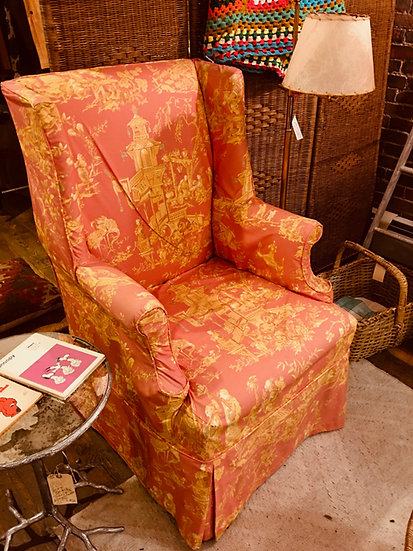 Antique Slipcovered Chair