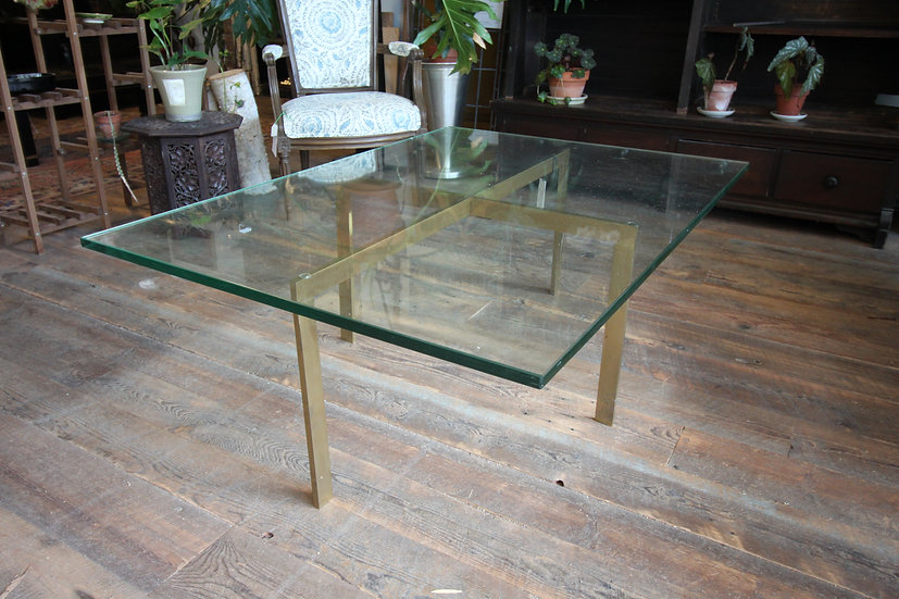 SOLD - Modern Glass Top Coffee Table