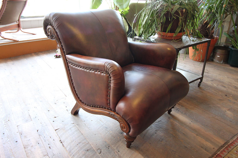 SOLD - Leather Armchair