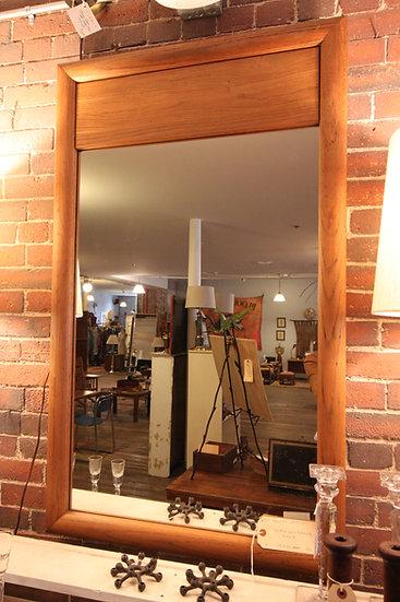 Mid-Century Oak Mirror