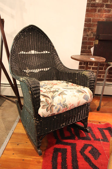 SOLD - Wicker Rocker and Chair