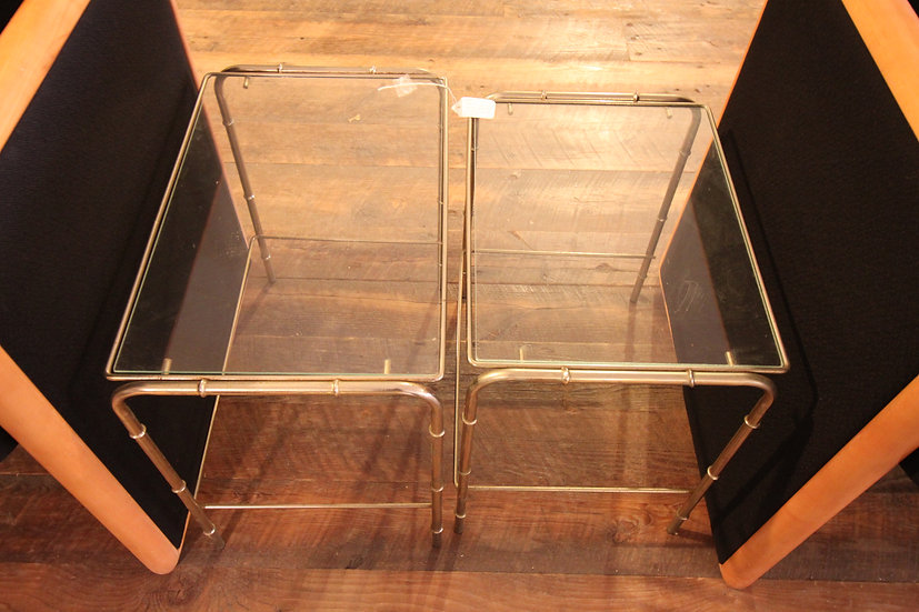 SOLD - Glass Top Nesting Tables