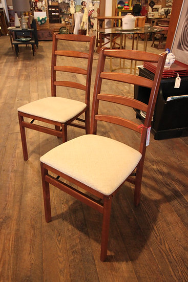 Set (4) Mid-Century Folding Chairs