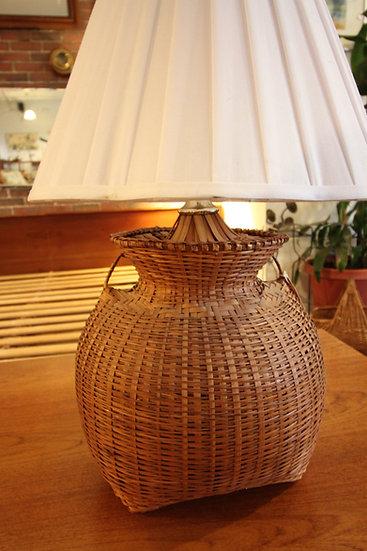 SOLD - Basket Lamp