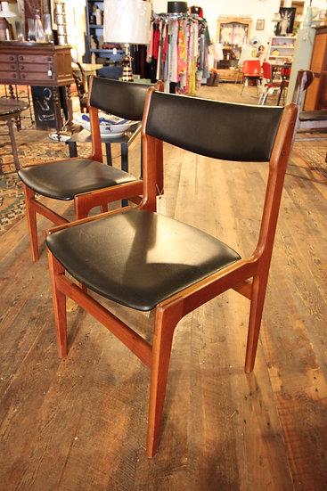 SOLD - Pair Danish Modern Chairs