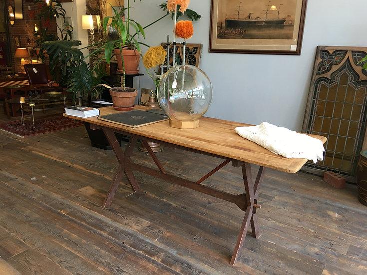 SOLD - Antique Trestle Table
