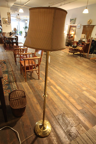 Etched Brass Floor Lamp