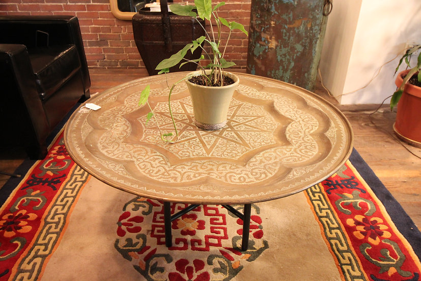 SOLD - Brass Tea Tray Coffee Table