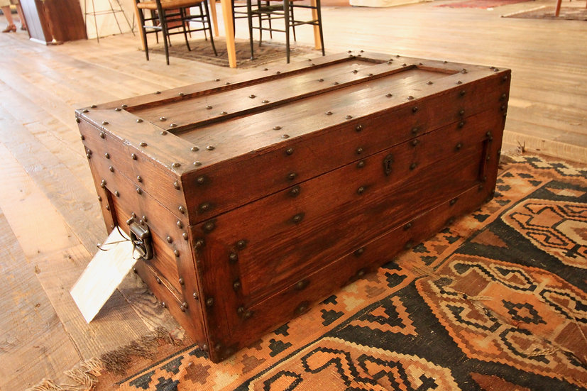 SOLD - Antique Studded Trunk