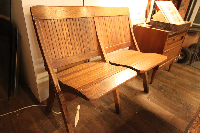 SOLD - Oak Theater Seats