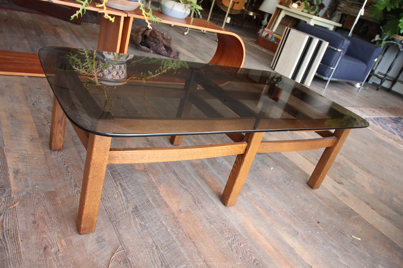 SOLD - Mid-Century Glass Top Table