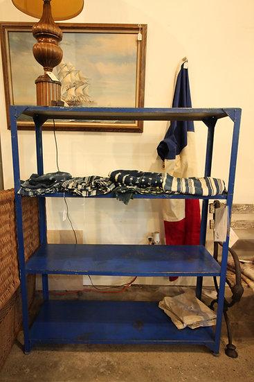 SOLD - Blue Industrial Shelf