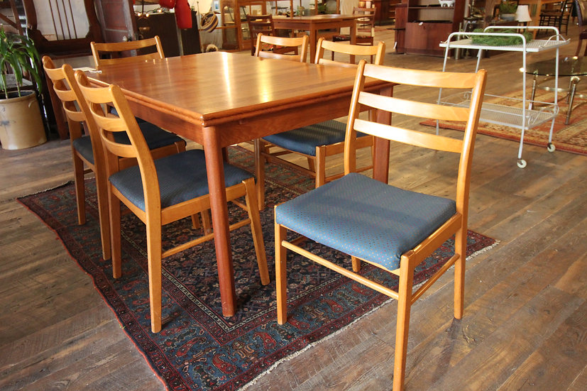SOLD - Set Six Teak Chairs