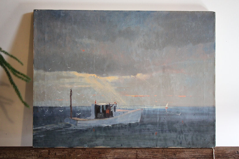 SOLD - Lobster Boat Oil on Canvas