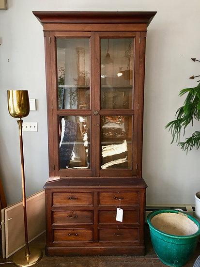 Antique Glass Front Cabinet
