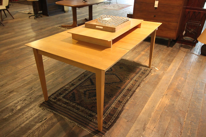 SOLD - Mid Century Maple Dining Table