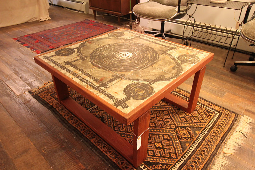 SOLD - Mid-Century Tile Top Table