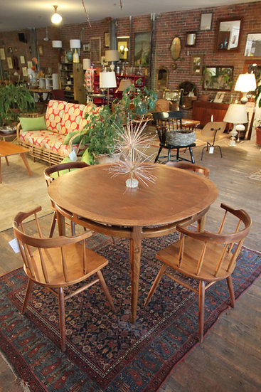 SOLD - Oblong Dining Table and Chairs