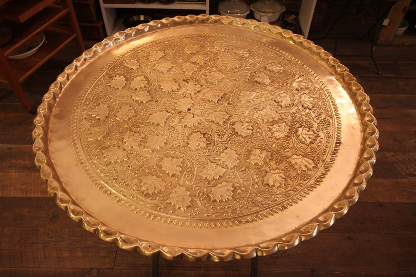 Large Ornate Brass Tray/Tabletop