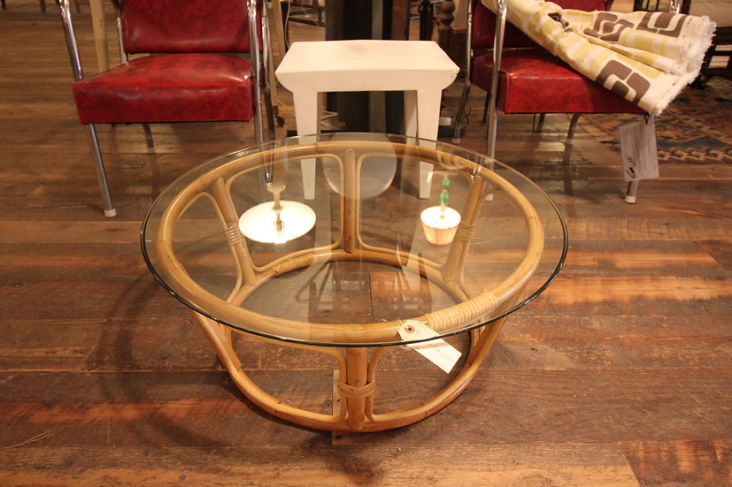 SOLD - Rattan Coffee Table