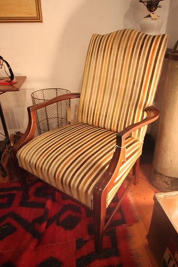 SOLD - Velvet Striped Armchair