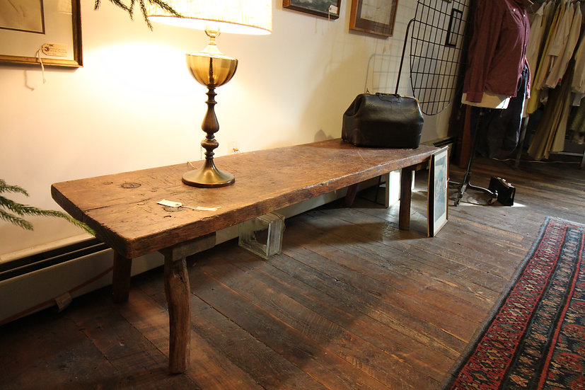 SOLD - Slab Coffee Table/Bench