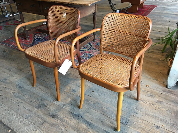 SOLD - Pair Stendig Caned Chairs