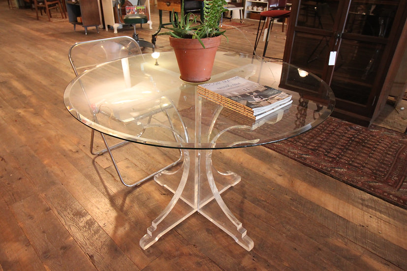 SOLD - Lucite and Glass Cafe Table