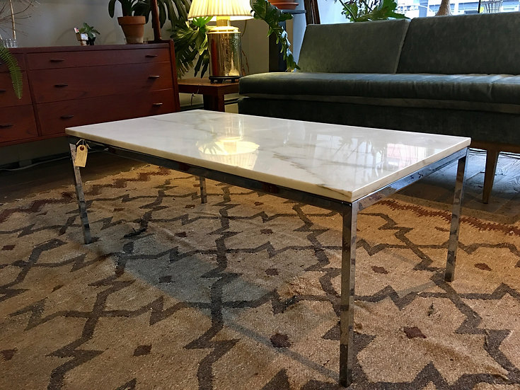 Mid-Century Modern Marble Top Table