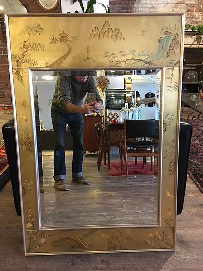 SOLD - LeBarge Hand Painted Mirror