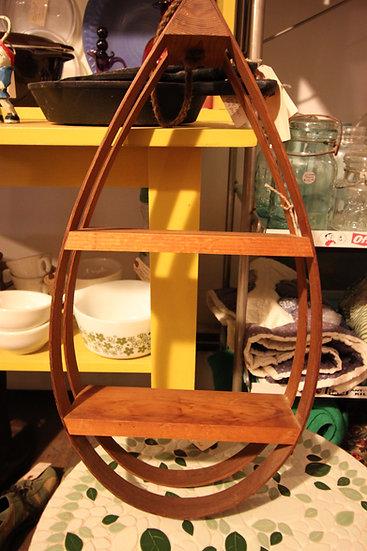 SOLD - Hanging Teardrop Shelf
