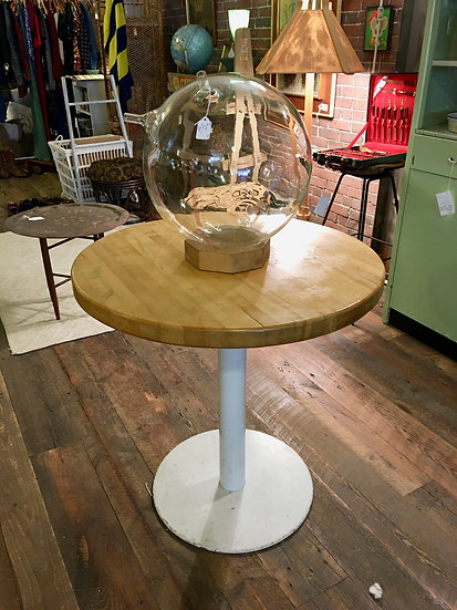 SOLD - Butcher Block Bistro Table