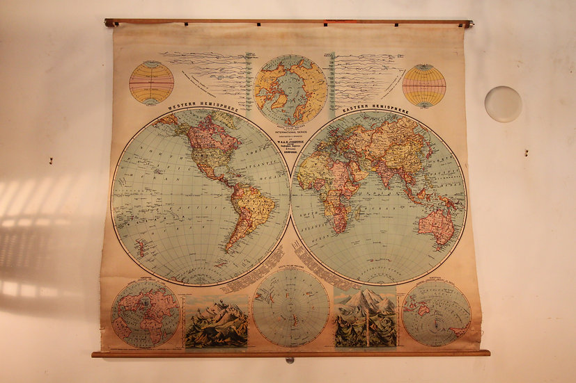SOLD - Antique World Map
