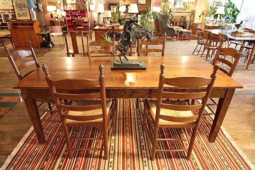 Large Oak Dining Table