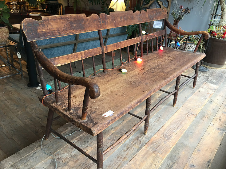 Antique Windsor Bench