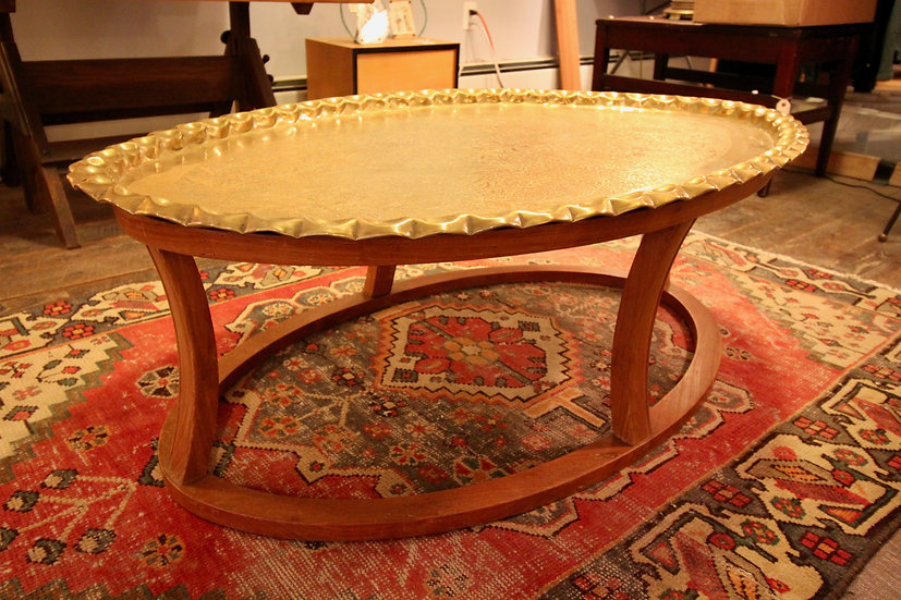 Mid-Century Brass Coffee Table