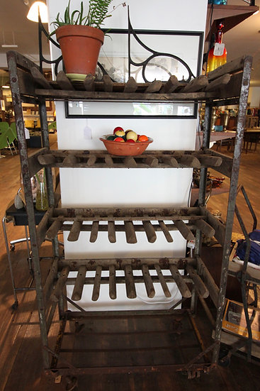 SOLD - Industrial Shoe Rack