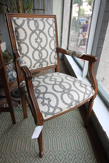 SOLD - Newly Upholstered Armchair