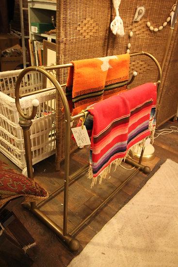 Brass-Plated Blanket Rack