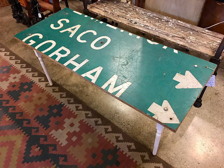 SOLD Repurposed Highway Sign Table