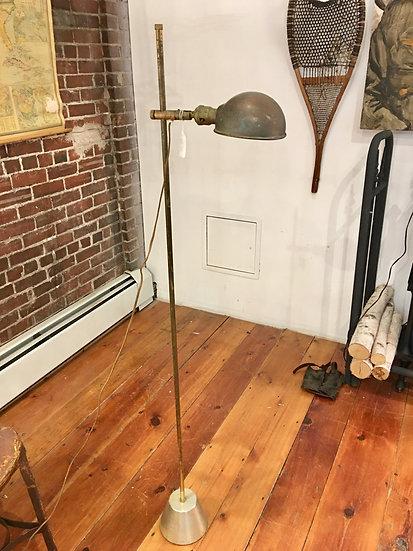SOLD - Brass Adjustable Floor Lamp