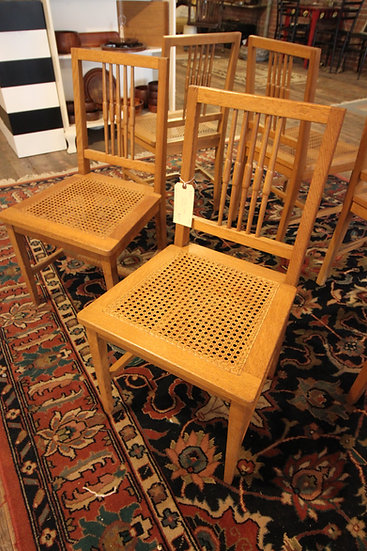 Set (6) Caned Chairs