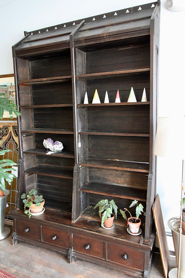 SOLD - Gothic Mission Style Bookcase
