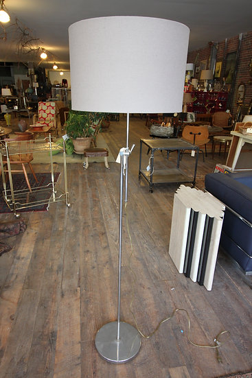 SOLD - Mid-Century Modern Chrome Standing Lamp
