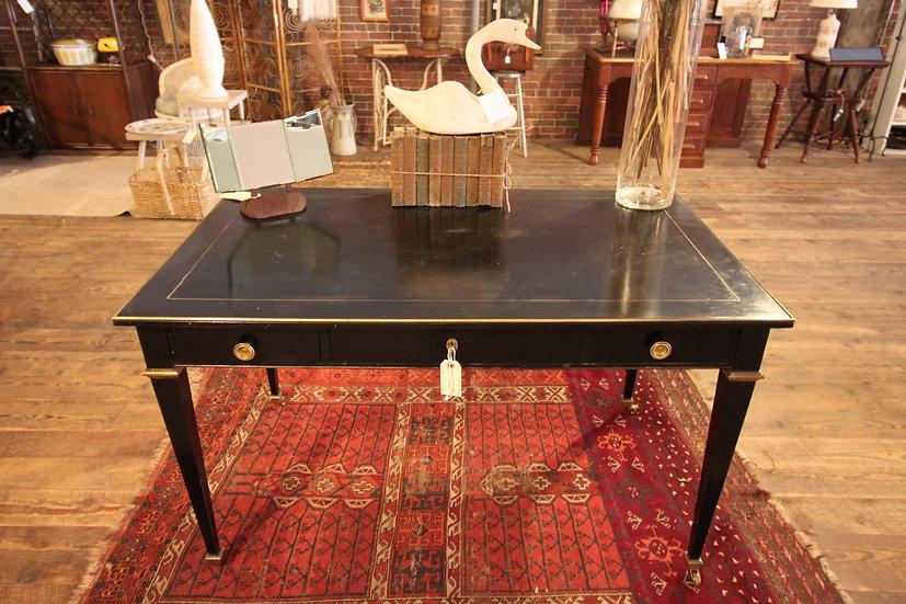 SOLD - Mid-Century Brass Inlay Desk