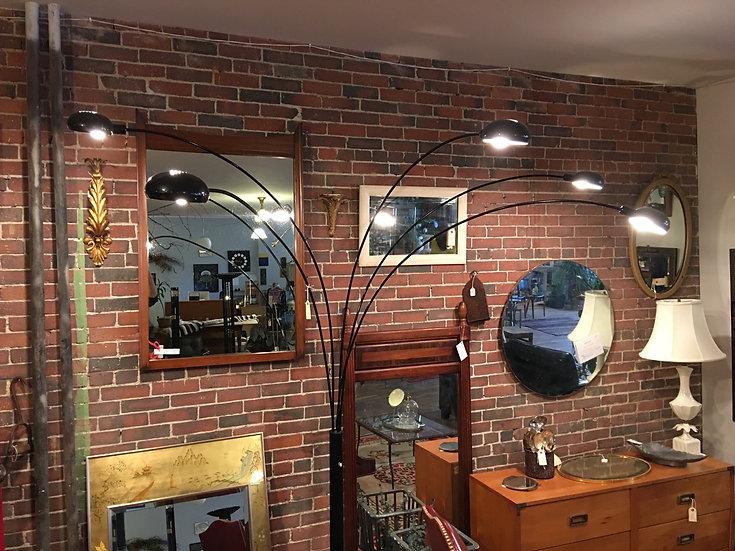 SOLD - Modern Five Fixture Arc Lamp