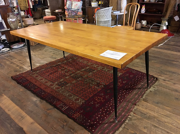 SOLD - Butcher Block Dining Table