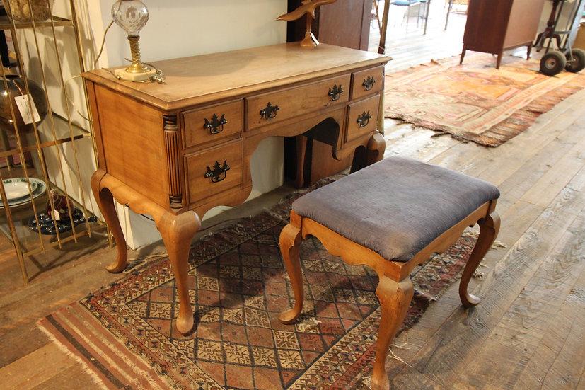Vintage Queen Anne Vanity & Bench