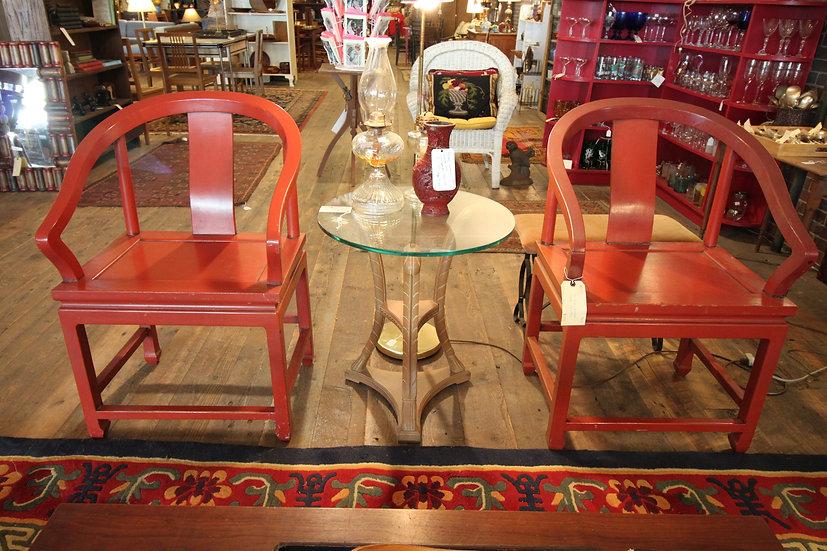 Pair of Chinese Yolk Chairs