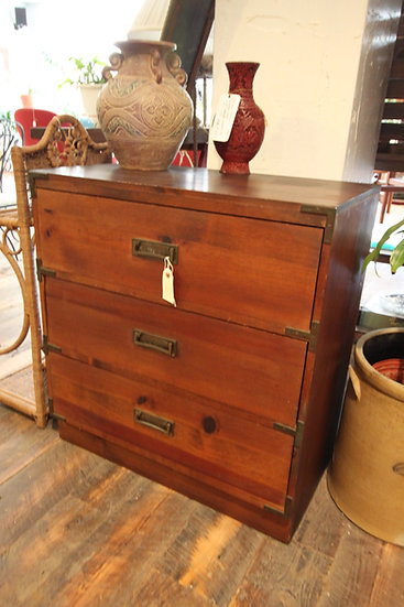 Mid-Century Campaign-Style Chest